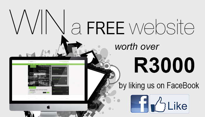 Win A Free Website Valued at R3000